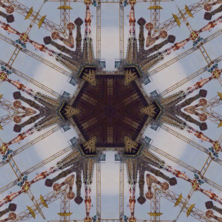 barcelona gaudi spires