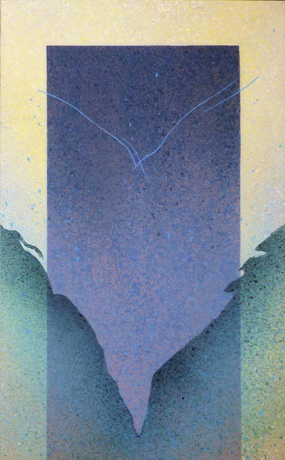 """Echo at Dawn; acrylic on canvas, 60""""x36""""x2"""",  2003"""