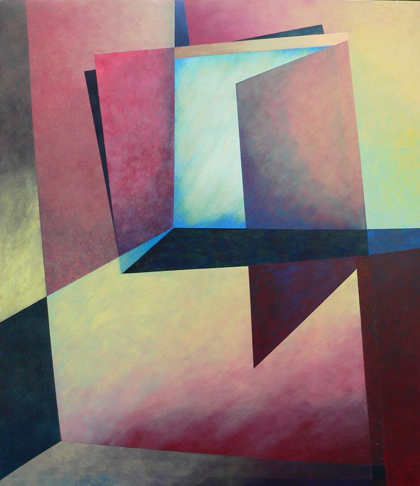 "Hurricane Watch: acrylics on canvas,  60""x48""x2"",  2002  (sold)"
