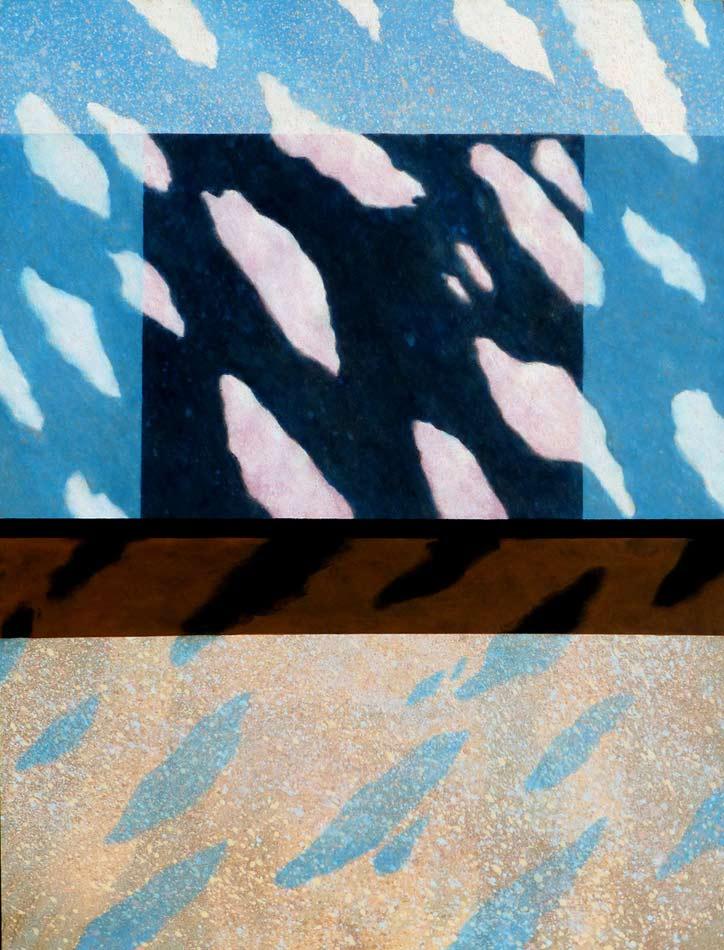 "Mirage: acrylic on canvas, 48""x36""x1.5"",  2003"
