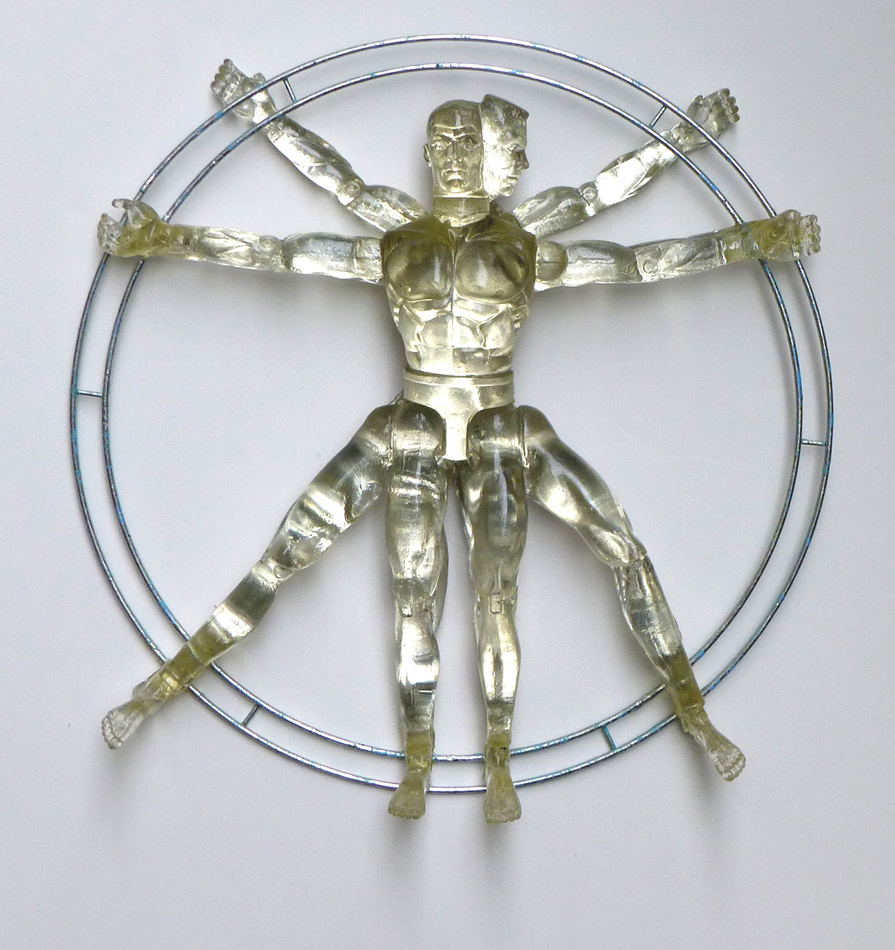 vitruvian man on white 950